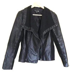 Sassy black faux leather jacket